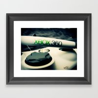 Xbox Controller Framed Art Print