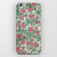 Retro French Floral Pattern iPhone & iPod Skin