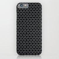 Black Criss Cross iPhone 6 Slim Case