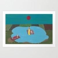 The Raft Art Print