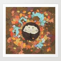 Luv Song (Hedgehog) Art Print
