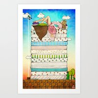 Princess Peach And The P… Art Print