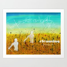 Cleansing process Art Print
