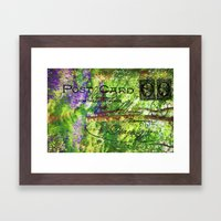 Postcard From The Countr… Framed Art Print