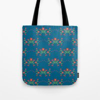 Small floral kitchen collection blue Tote Bag