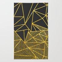 Bullion Rays (gold) Rug