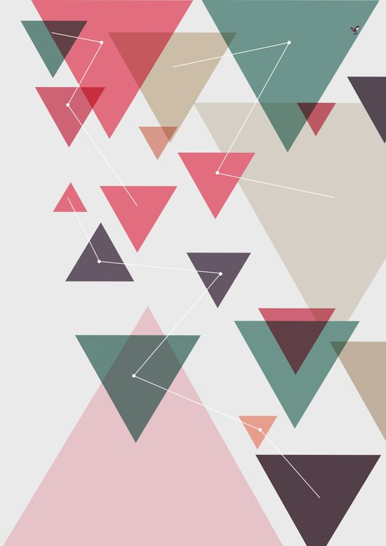 Triângulos ligados Art Print