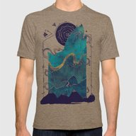 Northern Nightsky Mens Fitted Tee Tri-Coffee SMALL