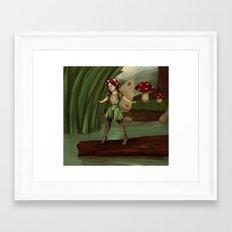 Toadstool Fairy Framed Art Print