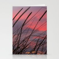 Sunset Through The Reeds Stationery Cards