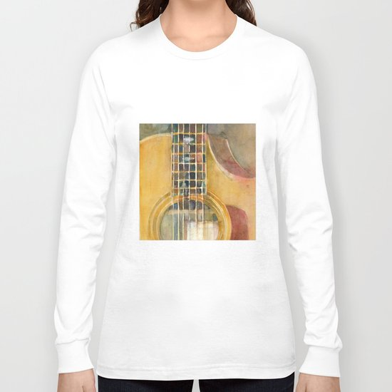 taylor guitar long sleeve t shirt by dorrie rifkin watercolors society6. Black Bedroom Furniture Sets. Home Design Ideas