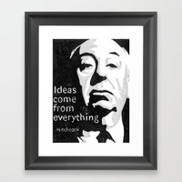 Ideas Come From Everythi… Framed Art Print