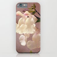 White Flower And Texture iPhone 6 Slim Case