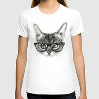 Mr. Piddleworth Womens Fitted Tee White SMALL