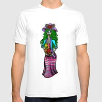 'La Catrina' (Day Of The… Mens Fitted Tee White SMALL