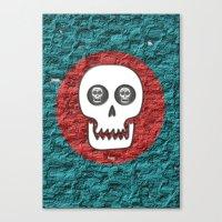 Skull Poppy Canvas Print