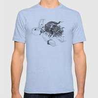Inking Turtle Mens Fitted Tee Athletic Blue SMALL