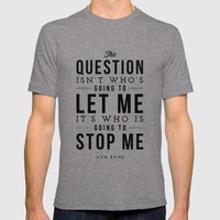 QUESTION Mens Fitted Tee Tri-Grey SMALL
