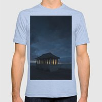 Cromer Pier Shelter at Dawn Mens Fitted Tee Athletic Blue SMALL