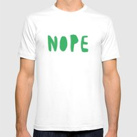nope Mens Fitted Tee White SMALL