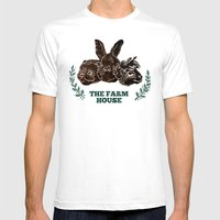 The Farm House Mens Fitted Tee White SMALL