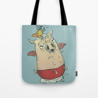Nourished with innocent things, and with few, ready and impatient to fly, to fly away Tote Bag