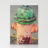 Hydrant Of Fire Stationery Cards