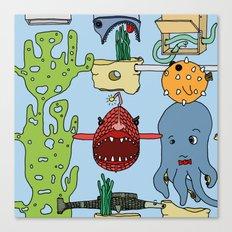 Deep under the sea Canvas Print