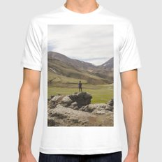 ICELAND I Mens Fitted Tee SMALL White