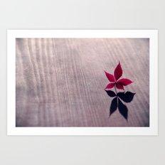 my shadow Art Print