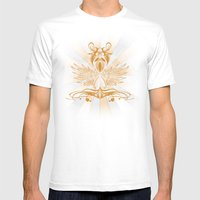 Grunge Shield Mens Fitted Tee White SMALL