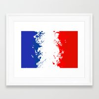 in to the sky, France  Framed Art Print