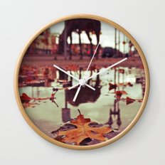 Roadside water Wall Clock