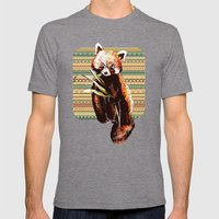 Firefox Mens Fitted Tee Tri-Grey SMALL