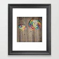 Life Of A Lollipop Framed Art Print
