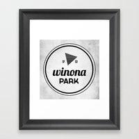 Winona Park Framed Art Print