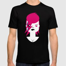 Ziggy Stardust (Bowie) SMALL Black Mens Fitted Tee