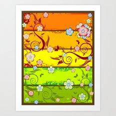Colorful Florals Art Print