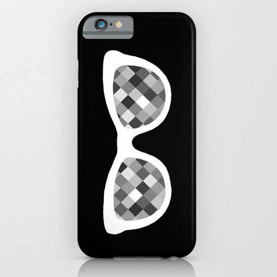 Diamond Eyes White on Black iPhone & iPod Case
