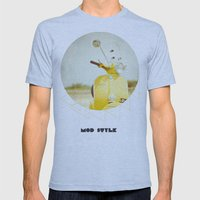 Mod Style In Yellow Mens Fitted Tee Athletic Blue SMALL
