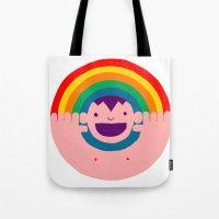 Rainbow Kid Tote Bag