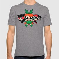 Supervillain Girls Mens Fitted Tee Tri-Grey SMALL