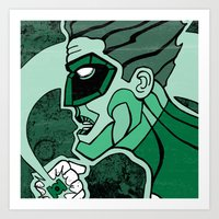 Emerald Flashlight Art Print