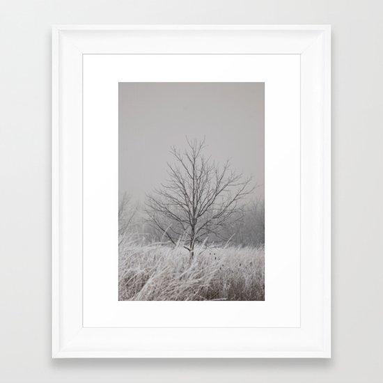 Wintered Framed Art Print