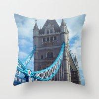 London Tower Bridge Throw Pillow