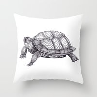 Turtle Pattern Throw Pillow