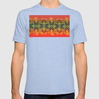 Playing With Stripes Mens Fitted Tee Tri-Blue SMALL