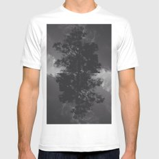ASHWD White Mens Fitted Tee SMALL