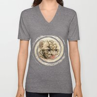 CUTE CLOUDED LEOPARD CUB Unisex V-Neck