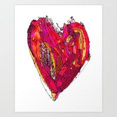 Funky Heart Art Print